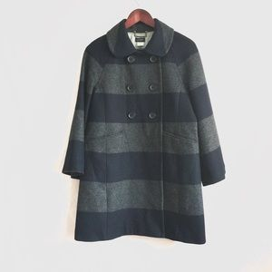 J.crew Wool Blend Double Breasted 3/4 Sleeve Coat